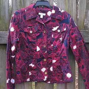 Charter Club Jacket Blazer Red White Blue Size Sml